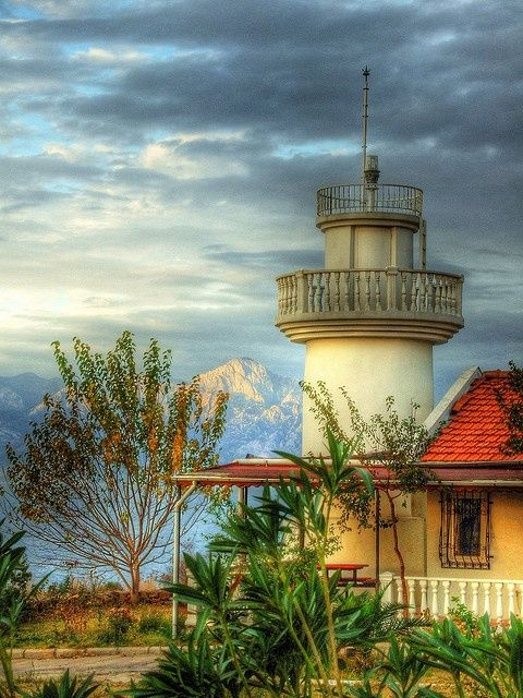 Antalya, Turkey, lighthouse - by Nejdet Duzen on flickr