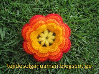 TEJIDOS OLGA HUAMAN: flores tejidos a crochet
