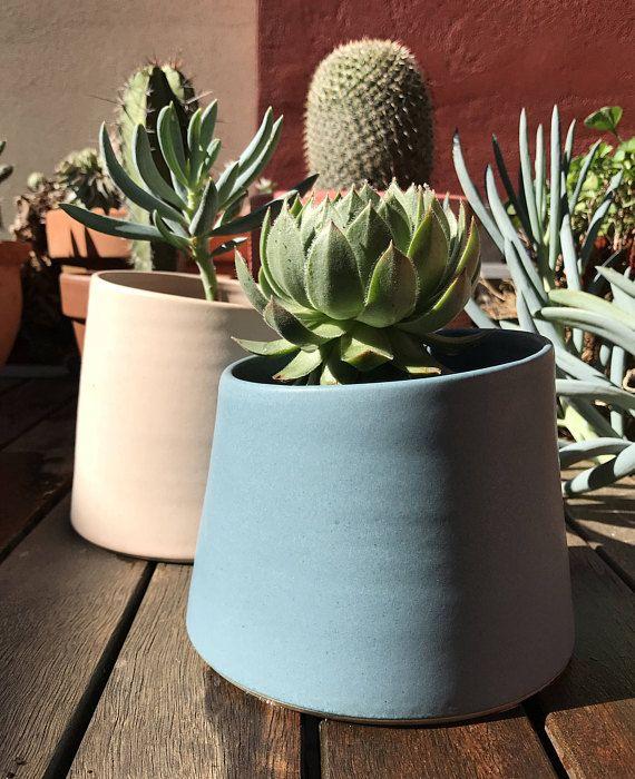Ceramic pot Geometric shapes. Planter Pottery Indoor Outdoor Ceramic Colorful planter