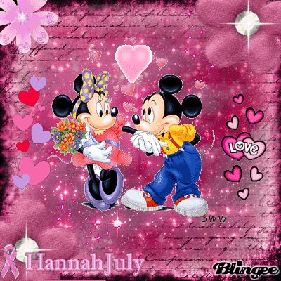 Mickey And Minnie Mouse Starlight Pink Mickey