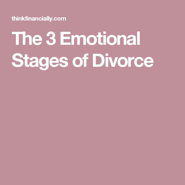 The 3 Emotional Stages of Divorce