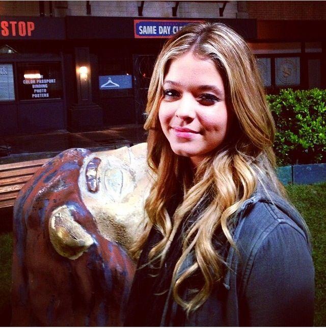 Sasha pieterse on set PLL season 5