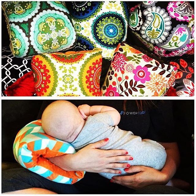 The Nursie® arm pillow is a portable nursing pillow that has revolutionized breastfeeding worldwide through a marriage of comfort, simplicity, and style. https://www.amazon.com/Nursie-Slip--Nursing-Pillow-Southern/dp/B01K8W9ICA/ref=sr_1_1_a_it?ie=UTF8&qid=1472010307&sr=8-1&keywords=the%2Bnursie