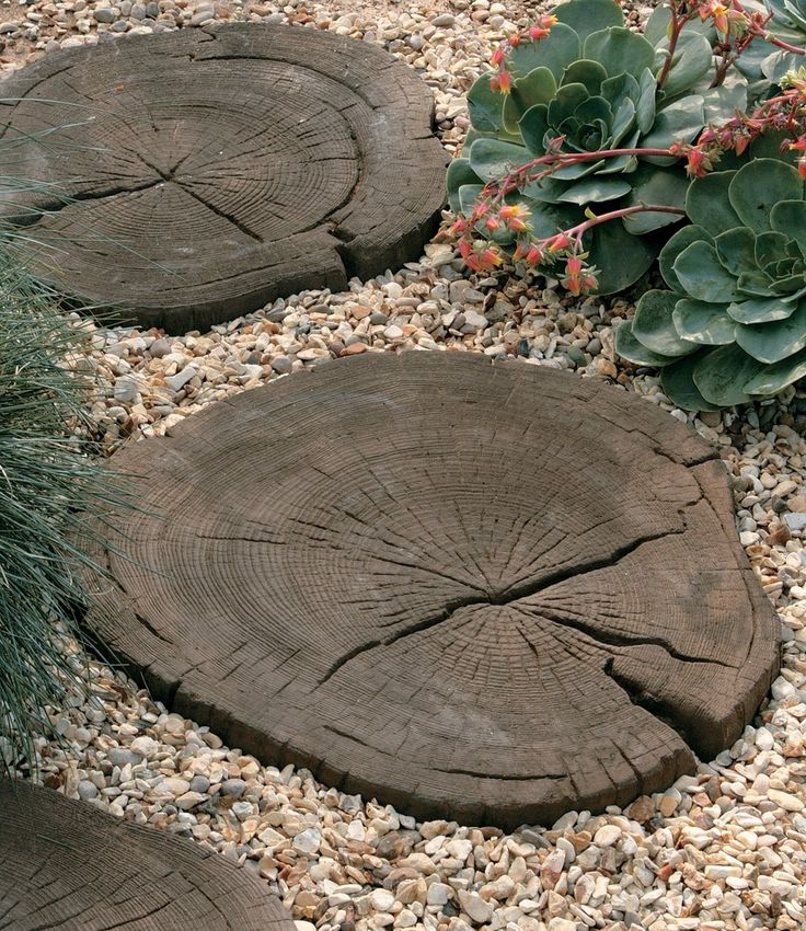 Stonemarket, Timberstone, Coppice Brown, Log Stepping Stone. Buy Garden Features at LSD.co.uk