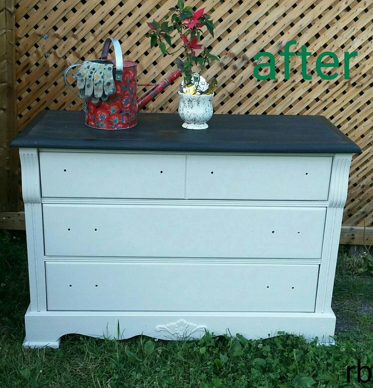 Champlain Fusion Mineral Paint and ebony top dresser.