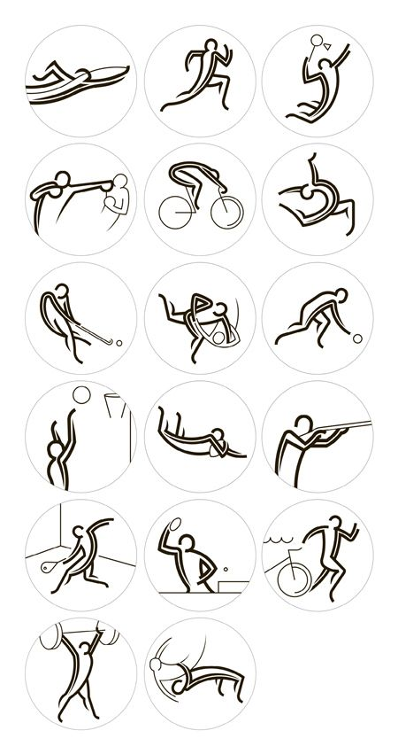 Glasgow 2014 Pictograms | FormFiftyFive – Design inspiration from around the world