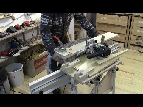 ⚙ Shopmade Slot Mortiser on Festool CMS/ Vorrichtung zum Langloch fräsen - YouTube