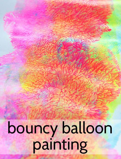 Easy Art for Kids - Bouncy Balloon Painting!