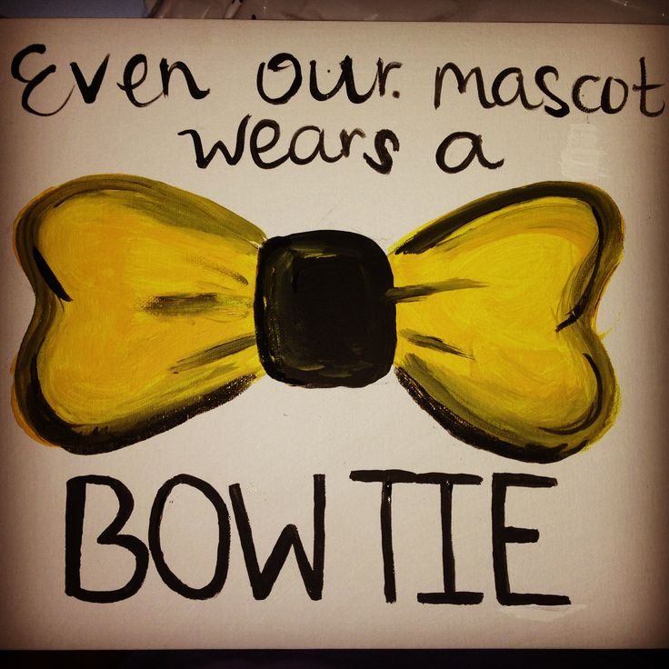 Even our mascot wears a bow tie.