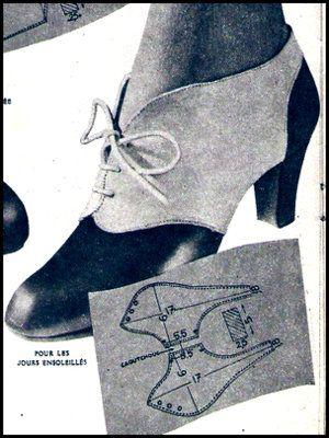 1940s spats pattern