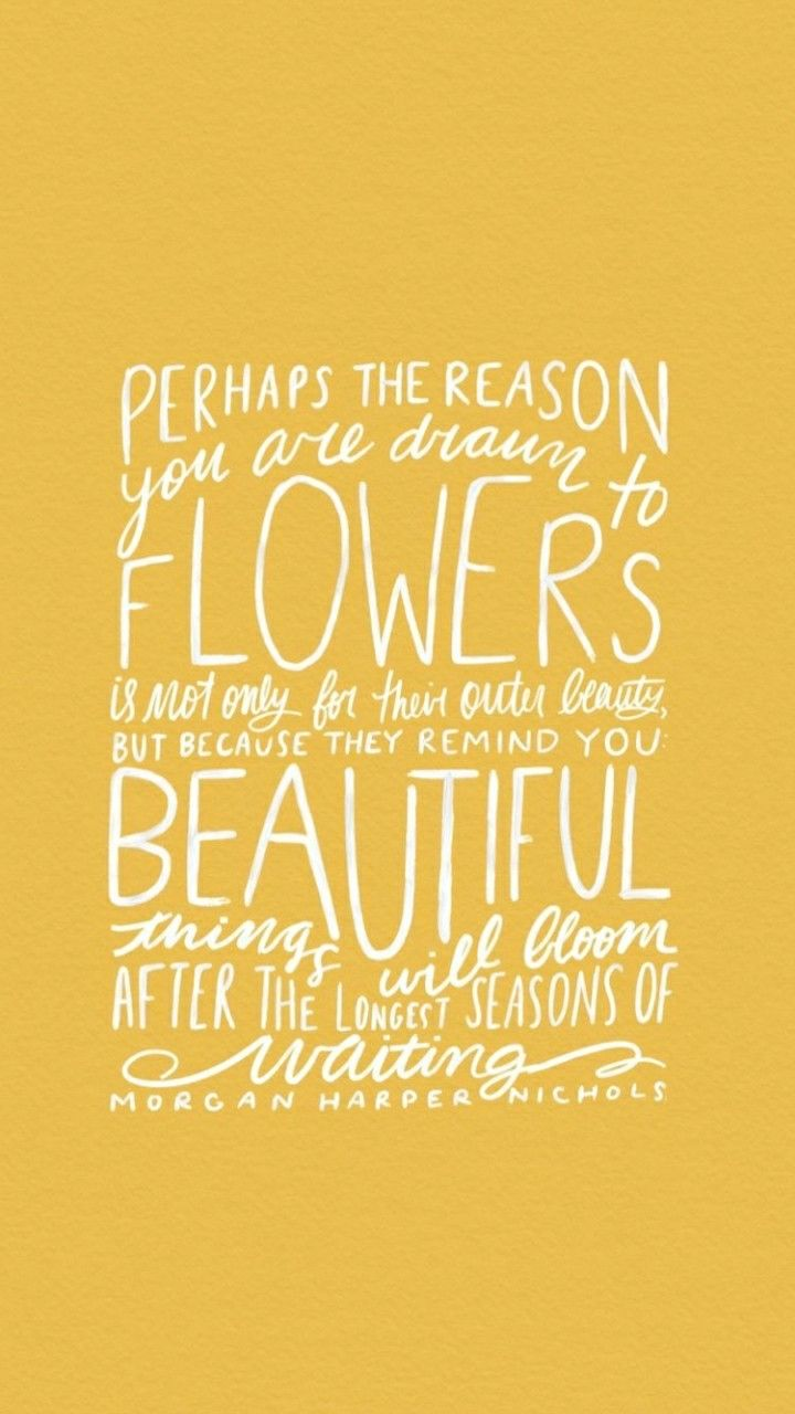 Yes Be a flower bloom from within and let the glow of