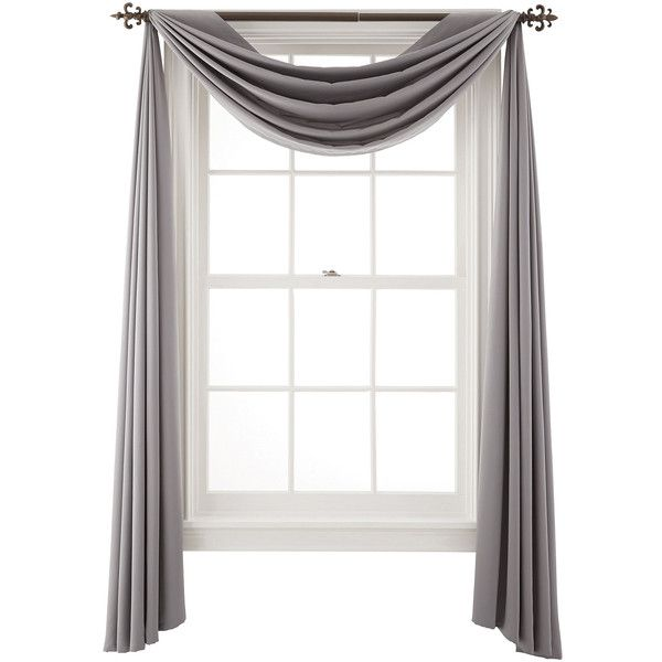 Liz Claiborne Kathryn Scarf Valance ($30) ❤ liked on Polyvore featuring home, home decor, window treatments, curtains, window scarf valance, window coverings, window scarf, liz claiborne and scarf valance