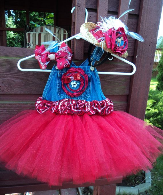 Overall Tutu Dress / Cowgirl / Barnyard or Farm by UneeklyUurs, $35.00