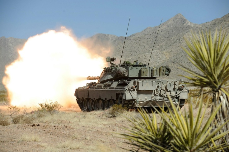 Jan 20, 2009 - Fort Bliss, US - Members of the 2nd Battalion, Royal 22nd Regiment (2R22eR) Battle Group (BG) carry on with the sighting adjustment of their Leopard C1 tanks. On Sep 13, the Armour School at CFB Gagetown rolled-out the Leopard 2A4 Canadian Tank as the new Main Battle Tank (MBT) of the Canadian Army.  Source: https://www.facebook.com/photo.php?fbid=337368643021787=a.239756456116340.54760.230798677012118=1