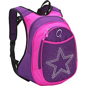 O3 USA O3 Kids Pre-School Star Backpack with Integrated Lunch Cooler - Purple Pink Bling Rhinestone Star - via eBags.com!   #ebags #ebagswishlist #pinittowinit