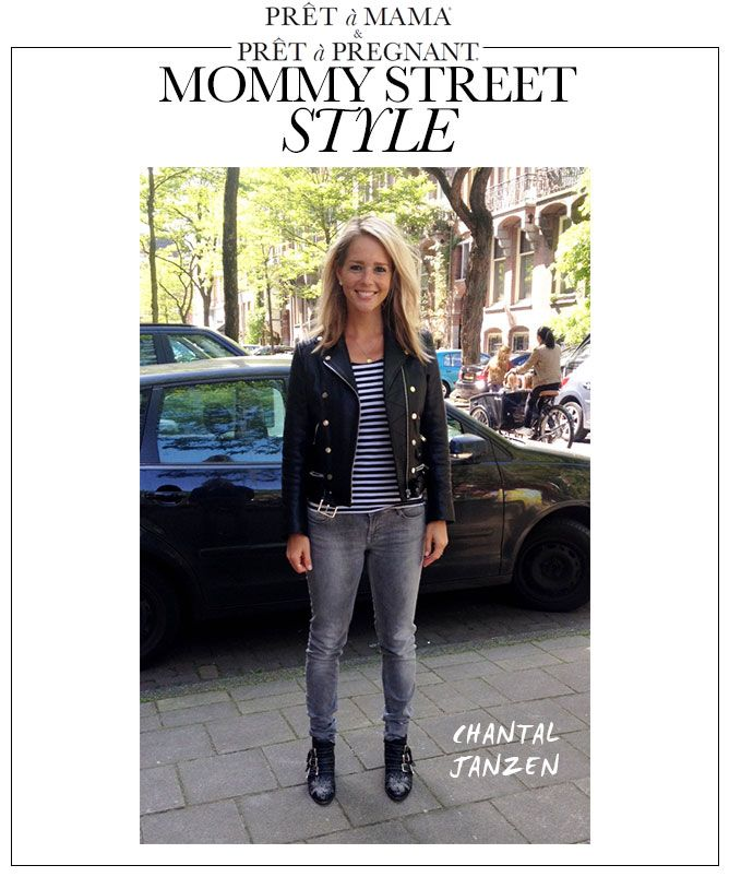 Pret a Mama Mommy Street Style:  Chantal Janzen spotted in front of school and looking so pretty! How gorgeous is Dutch celebrity #ChantalJanzen in our #Mommy #Streetstyle? ==> www.pretamama.com