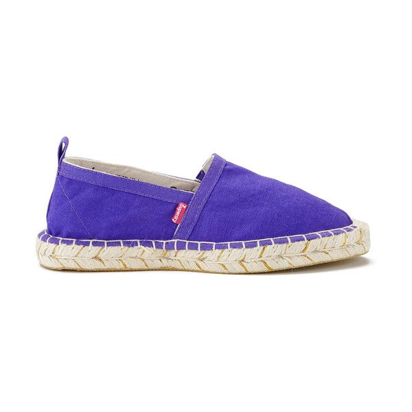 Superdry Women's Espadrilles - Fluro Purple/Sparkle ($22) ❤ liked on Polyvore featuring shoes, sandals, purple, espadrille sandals, toe-loop sandals, slip on shoes, superdry and slip-on shoes
