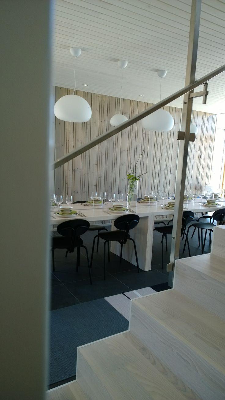 Ruokaryhmä Jedun kohteessa Raikas / Kalajoen Loma-asuntomessut