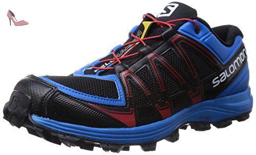 Salomon Fellraiser, Chaussures de Trail homme, Multicolore (Black/Methyl Blue/Quick), 46 EU - Chaussures salomon (*Partner-Link)