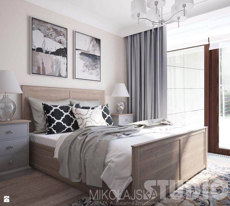 elegancka sypialnia w stylu nowojorskim - zdjęcie od MIKOŁAJSKAstudio - Sypialnia - Styl Eklektyczny - MIKOŁAJSKAstudio