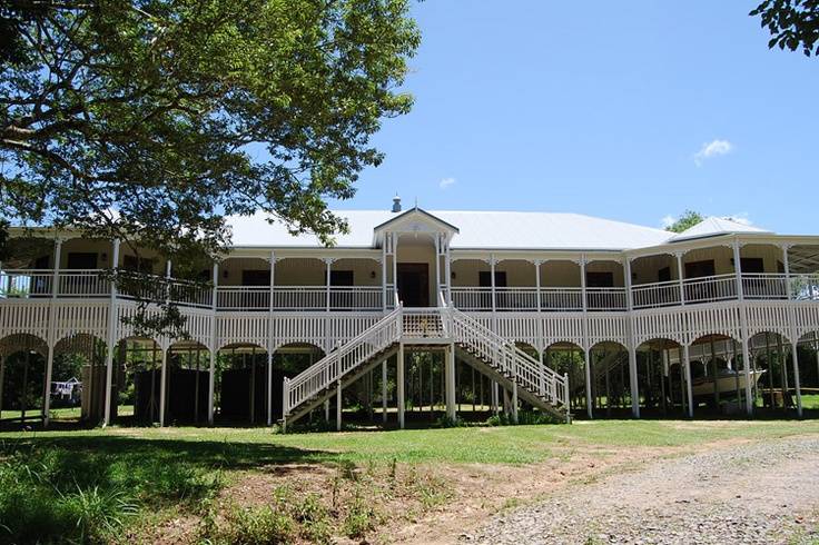 Grand old Queenslander with butterfly staircase.