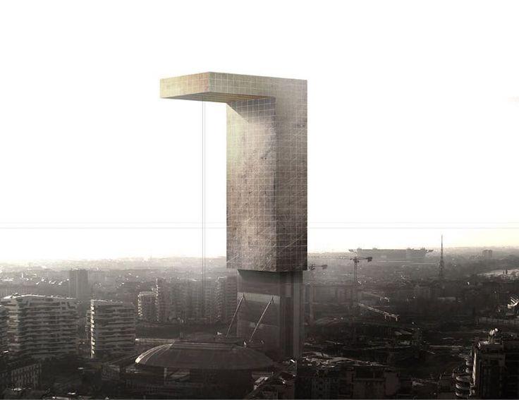 """Zamanı Geçmiş Kentler: Adrian Labaut Hernandez """"Alternatif Mimari Peyzaj"""" olarak adlandırdığı illüstrasyon serisine Milan'ın geleceğini konu alan yeni çalışmalarını da ekledi. Sanatçı, illüstrasyon serisinde, tekil strüktürlerle tasarlanan geleneksel şehirlere karşılık alternatif bir mimari peyzaj oluşturuyor."""