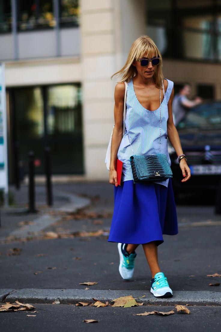 Street fashion: Paris Fashion Week wiosna-lato 2015, fot. Imaxtree
