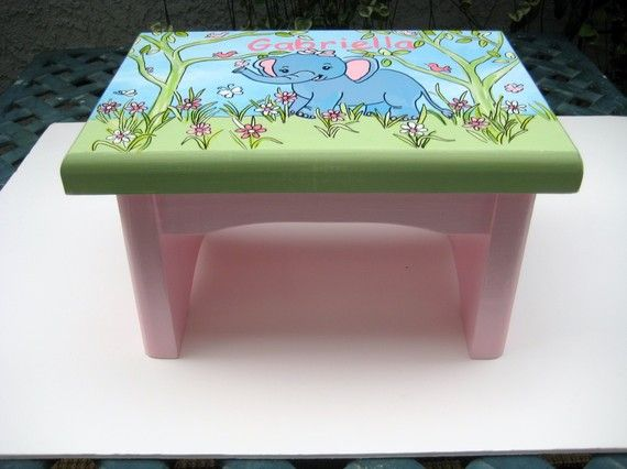 A personalizedcustomized Elephant step stoolpastel & 1253 best Kids furniture images on Pinterest | Painted furniture ... islam-shia.org