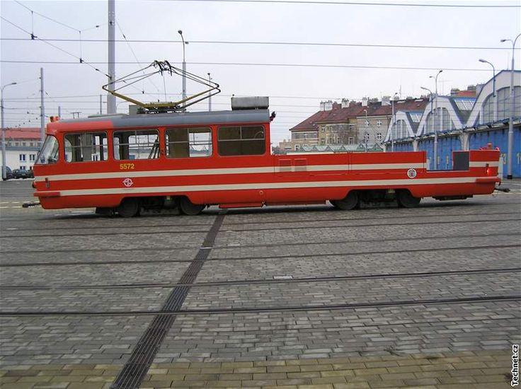 Pražské tramvaje, které nevozí cestující - Nákladní tramvaj