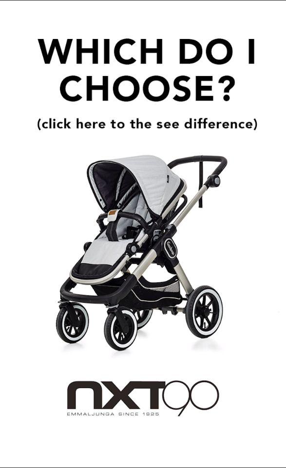 Which one to choose? The Emmaljunga NXT90 is Strong, Multifunctional & Powerful. The Emmaljunga NXT60 is Urban Comfort, Lightweight & Compact. #emmaljunga #NXT90 #NXT60 #stroller #kinderwagen #barnvagn #cochecitos #pregnant #gravid #schwanger #embarazada