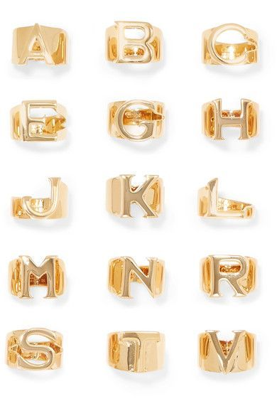We love understated, delicate jewellery as much as the next girl, but there are times when only the chunkiest of bling will do. Chloé has taken the personalisation trend up a notch with these statement gold letter rings, providing the ultimate dramatic knuckle candy to add edge to any look.