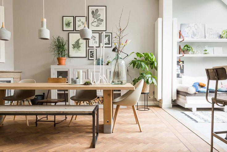 Botanische prints bij Holger en Rachel uit aflevering 8, seizoen 1 | kijken en kopen | Make-over door: Carlein Kieboom | Fotografie Barbara Kieboom