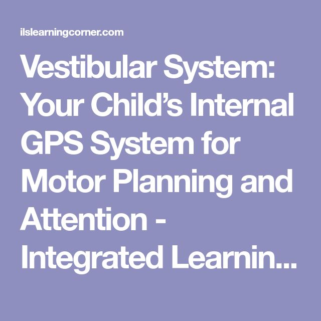 Vestibular System: Your Child's Internal GPS System for Motor Planning and Attention - Integrated Learning Strategies