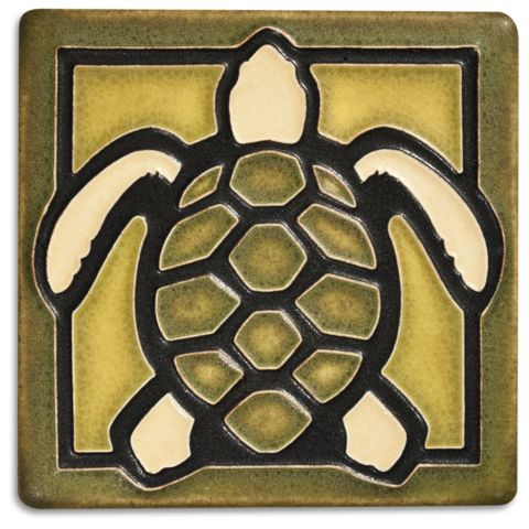 This precious turtle tile is simply irresistible. Hang it with our frog and insects for a warm display.