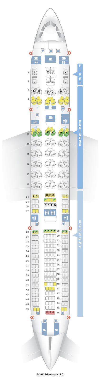 SeatGuru Seat Map Lufthansa Airbus A330-300 (333) V1 - Denver to Munich