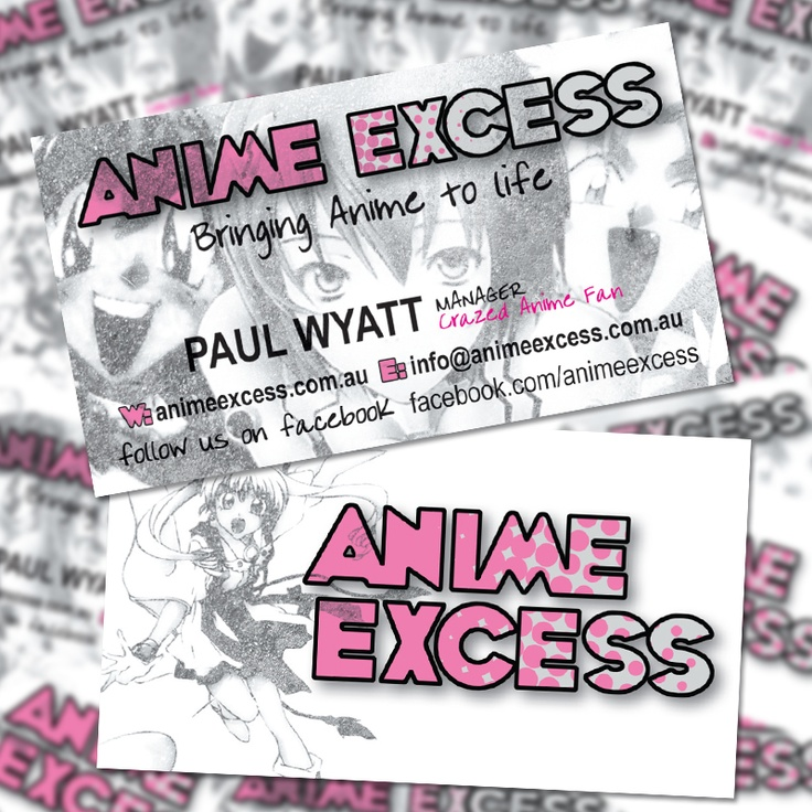 14 best business cards images on pinterest business cards carte anime excess double sided business card october 2010 by enslaved design reheart Choice Image