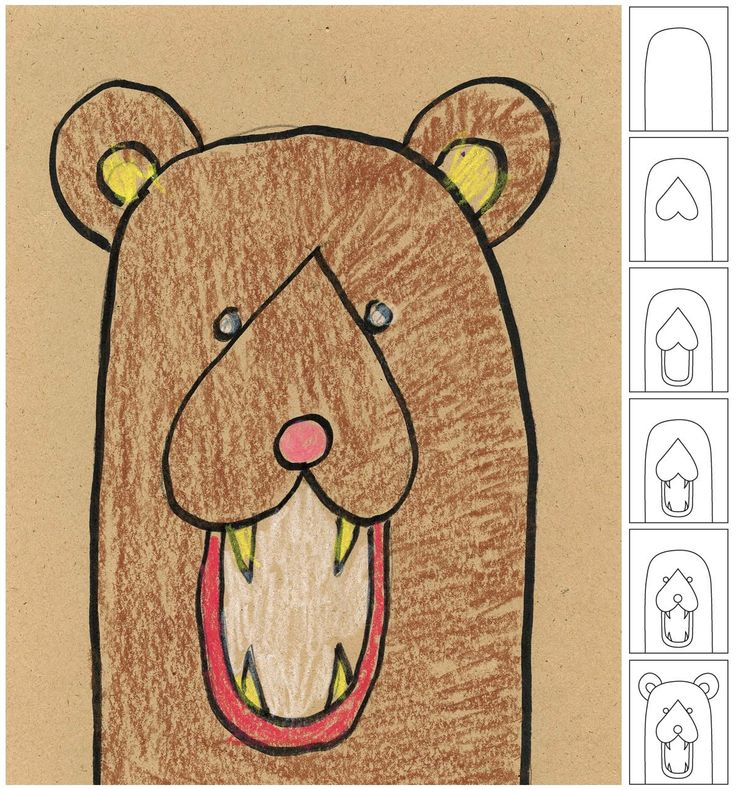 Art Projects for Kids: How To Draw a Bear Head
