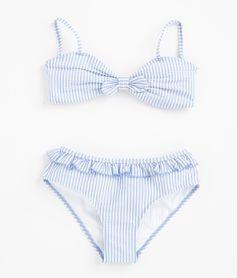 Girl Swims: Shop Seersucker Bow Bikini Suit Online | vineyard vines