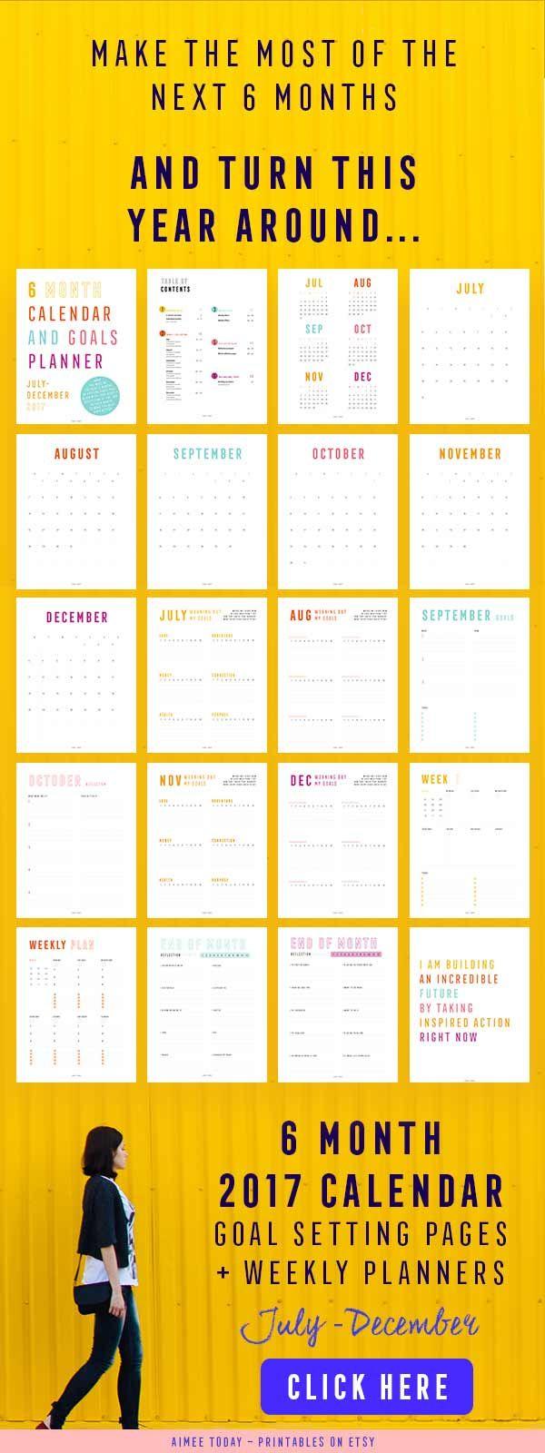Calendar Year Goals : Best ideas about printable calendars on pinterest