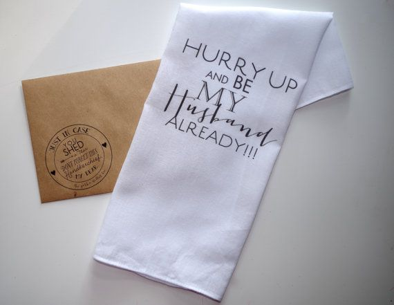Wedding Gift To Groom Handkerchief Printed Be My Husband Custom Inspo Pinterest