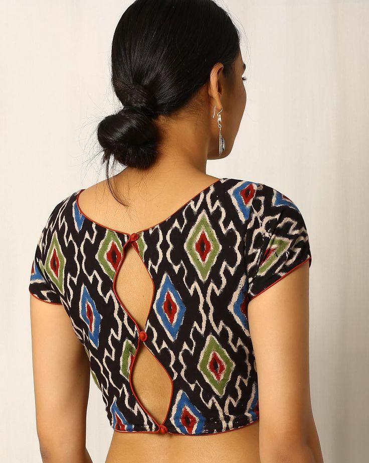 Buy Multicoloured Indie Picks Ikat Print Cotton Blouse