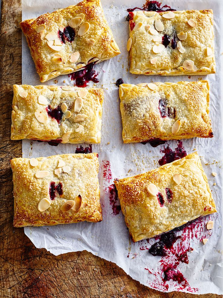 Oodles of strudels! Weichselstrudel is a sweet German pie filled with the richness of sour cherries and topped with sprinkles of almond flakes and sugar.