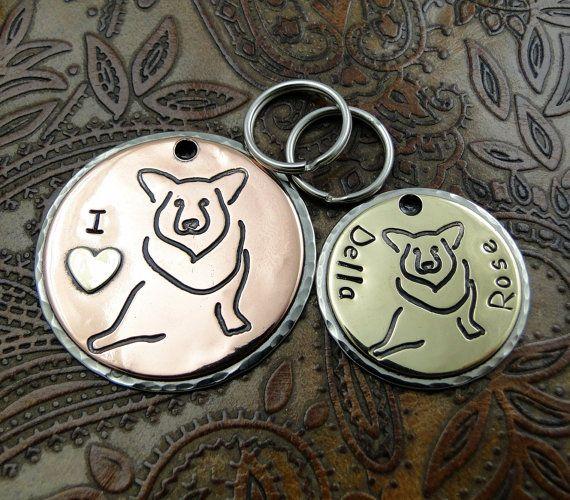Étiquette d'identification de chien Welsh par IslandTopCustomTags