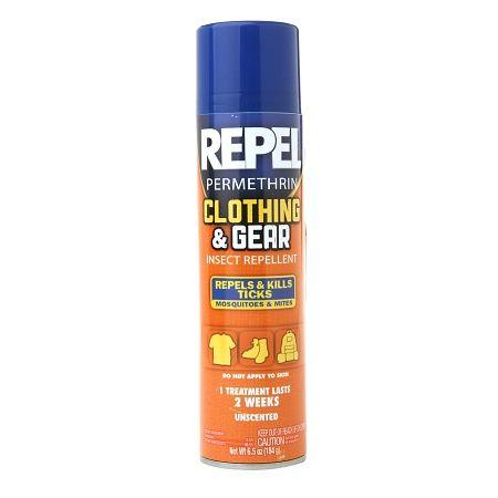 Repel Permethrin Clothing & Gear Insect Repellent Aerosol