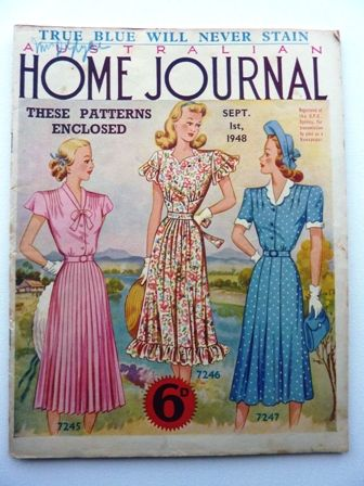 Australian Home Journal Magazine - Vintage - Sewing Pattern - In my personal collection www.facebook.com/AnnaMareeCreatively