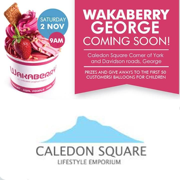 Who can't wait for Wakaberry to open? Wakaberry George is opening in less than 10 days - at 9am on November 2. Be there! Lots of giveaways #wakaberry #caledonsquare
