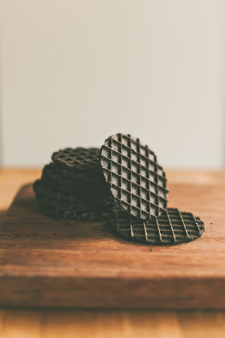 Charcoal waffle biscuits. sundayfolks.com