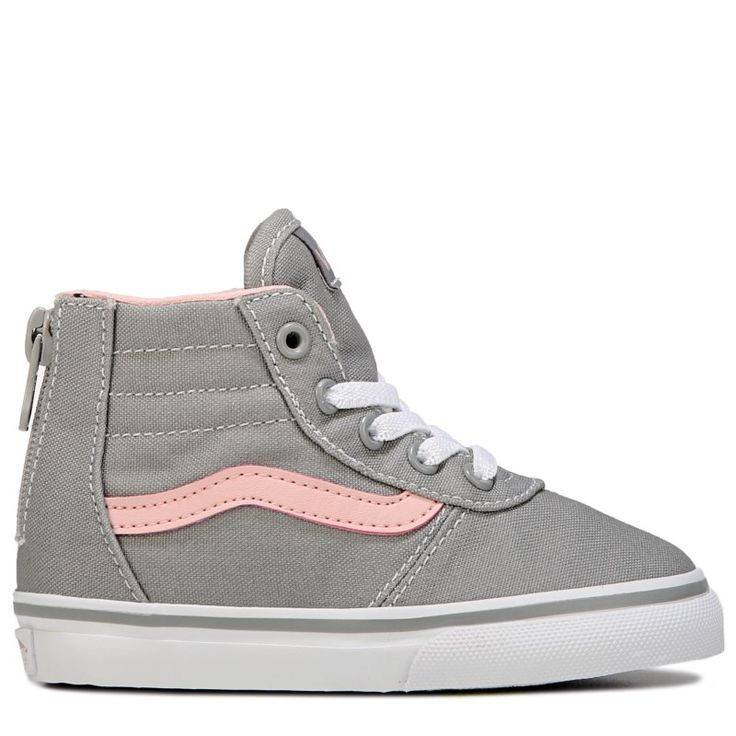 Vans Kids' Maddie High Top Sneaker Toddler Shoes (Grey/Pink)