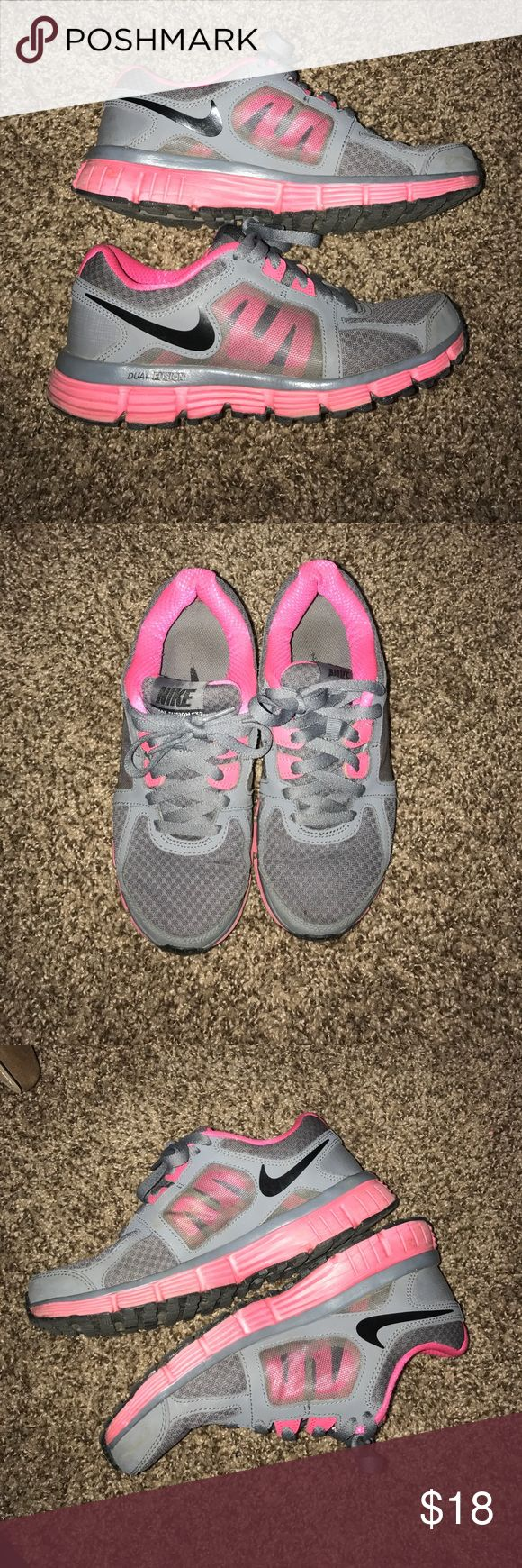 Nike Dual fusion tennis shoes Hot pink and gray Nike Dual fusion tennis shoes Nike Shoes Sneakers