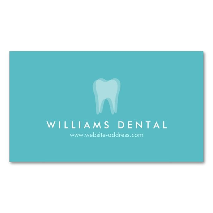 2017 best dental dentist business cards images on pinterest modern dentist aqua tooth logo dental office business card colourmoves Gallery